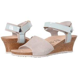 Birkenstock Papillio Eve Heeled Grey Suede Sandal